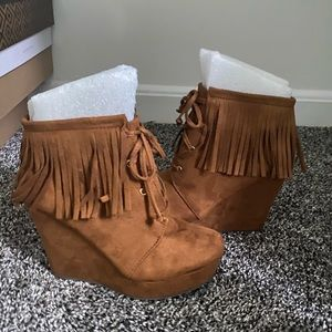 Wedge booties from Soda